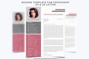 Resume Template 004 for Photoshop