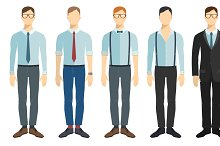 Office people in flat style.