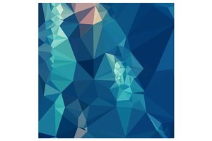 Ball Blue Abstract Low Polygon Backg