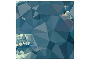 Cadet Blue Abstract Low Polygon Back