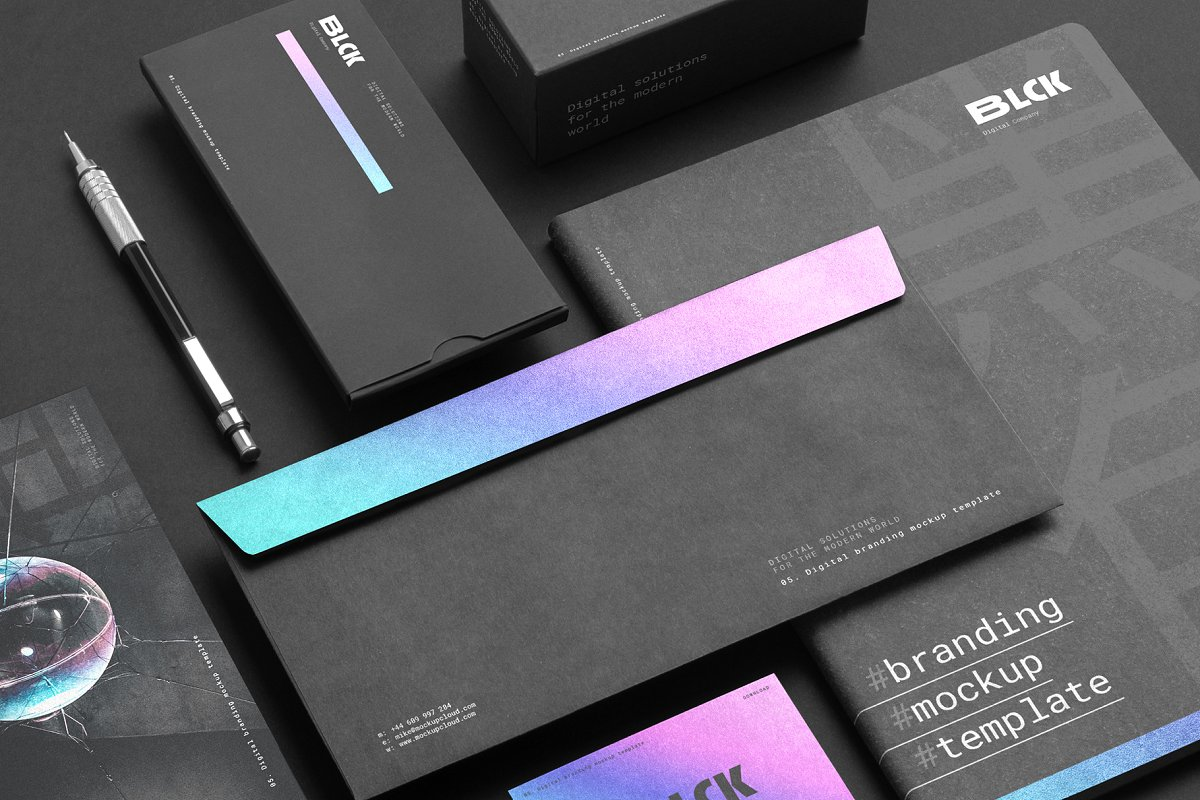 Blck Branding Mockup in Branding Mockups - product preview 8
