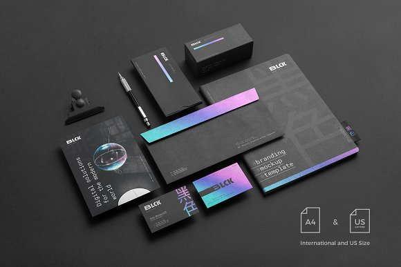 Blck Branding Mockup in Branding Mockups - product preview 1
