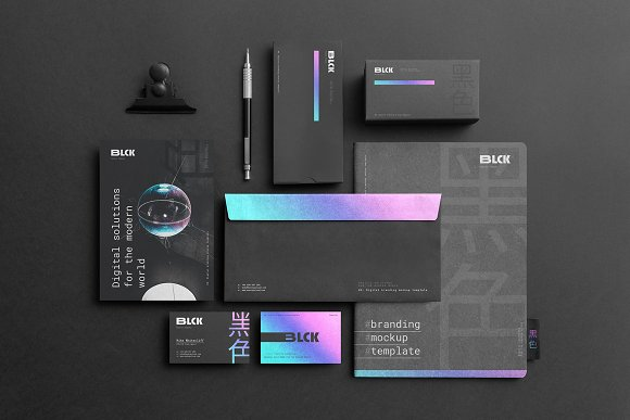 Blck Branding Mockup in Branding Mockups - product preview 2