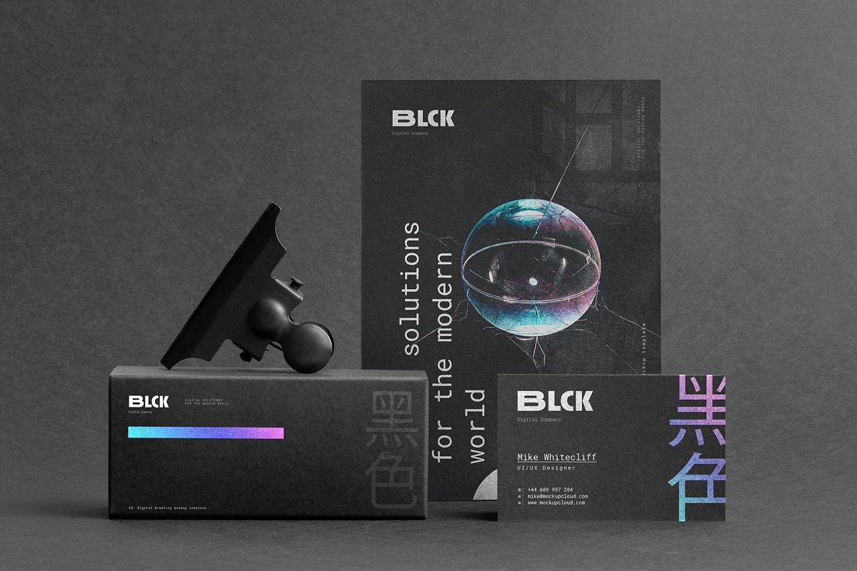 Blck Branding Mockup in Branding Mockups - product preview 8