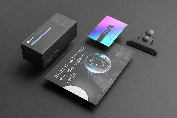 Blck Branding Mockup in Branding Mockups - product preview 9