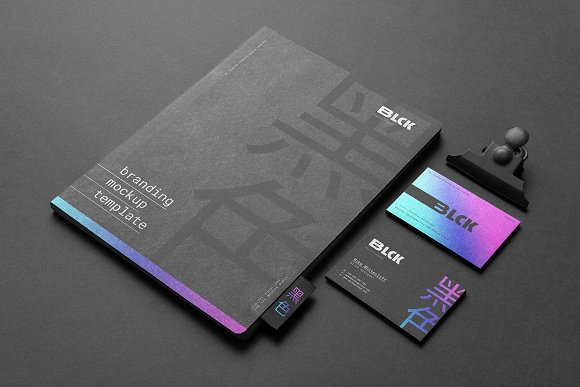 Blck Branding Mockup in Branding Mockups - product preview 12