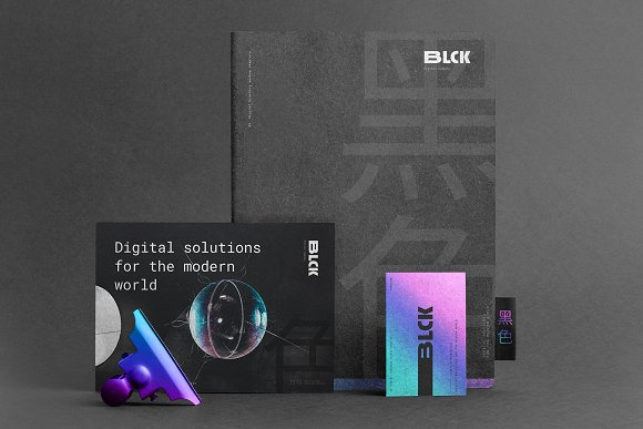 Blck Branding Mockup in Branding Mockups - product preview 14