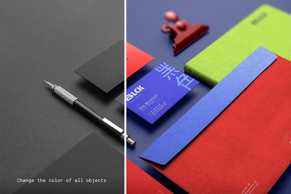 Blck Branding Mockup in Branding Mockups - product preview 16