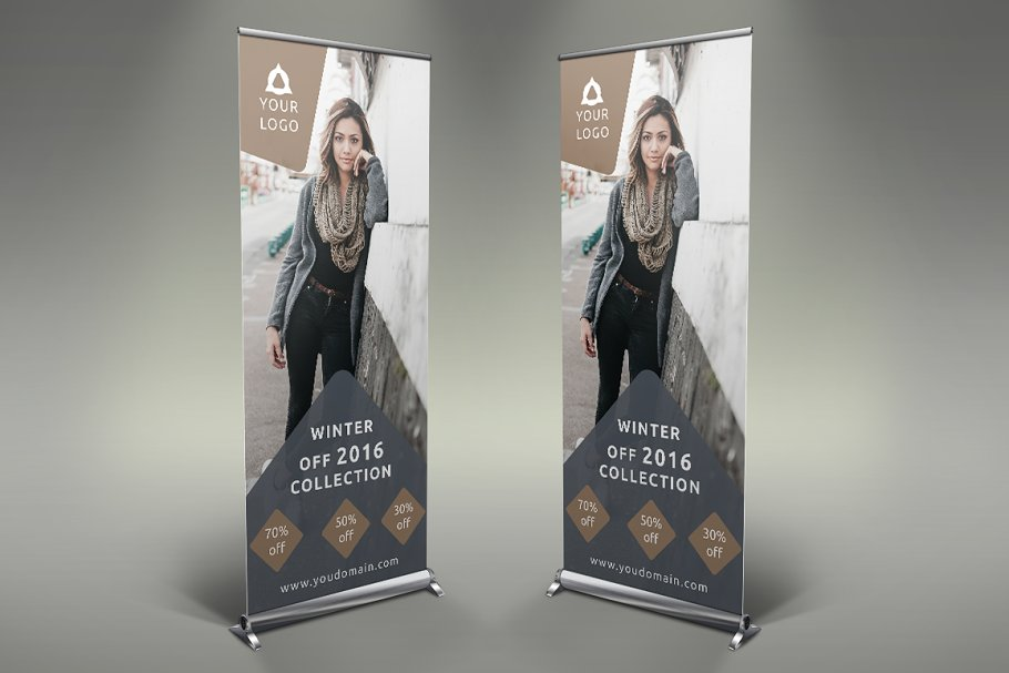 Fashion Style - Roll Up Banner in Presentation Templates