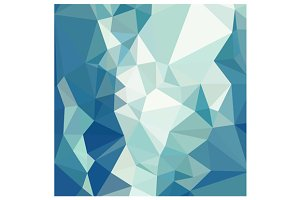 Turquoise Green Abstract Low Polygon