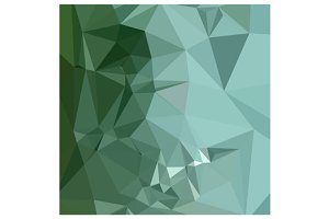 Zomp Green Abstract Low Polygon Back