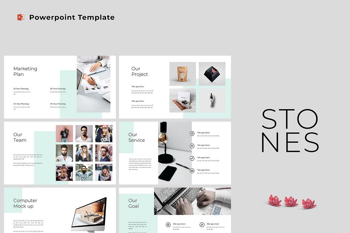 Stones - Modern & Clean Powerpoint