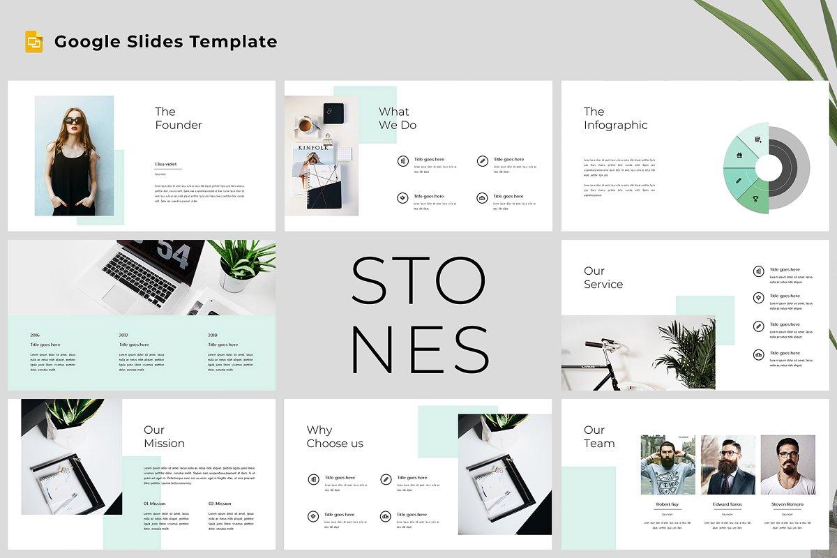 Stones -Modern & Clean Google Slides
