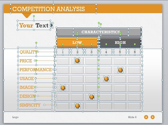 Targets smileys on winner podium competition ppt template 1.