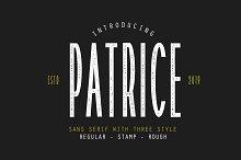 Patrice   Sans Serif Font