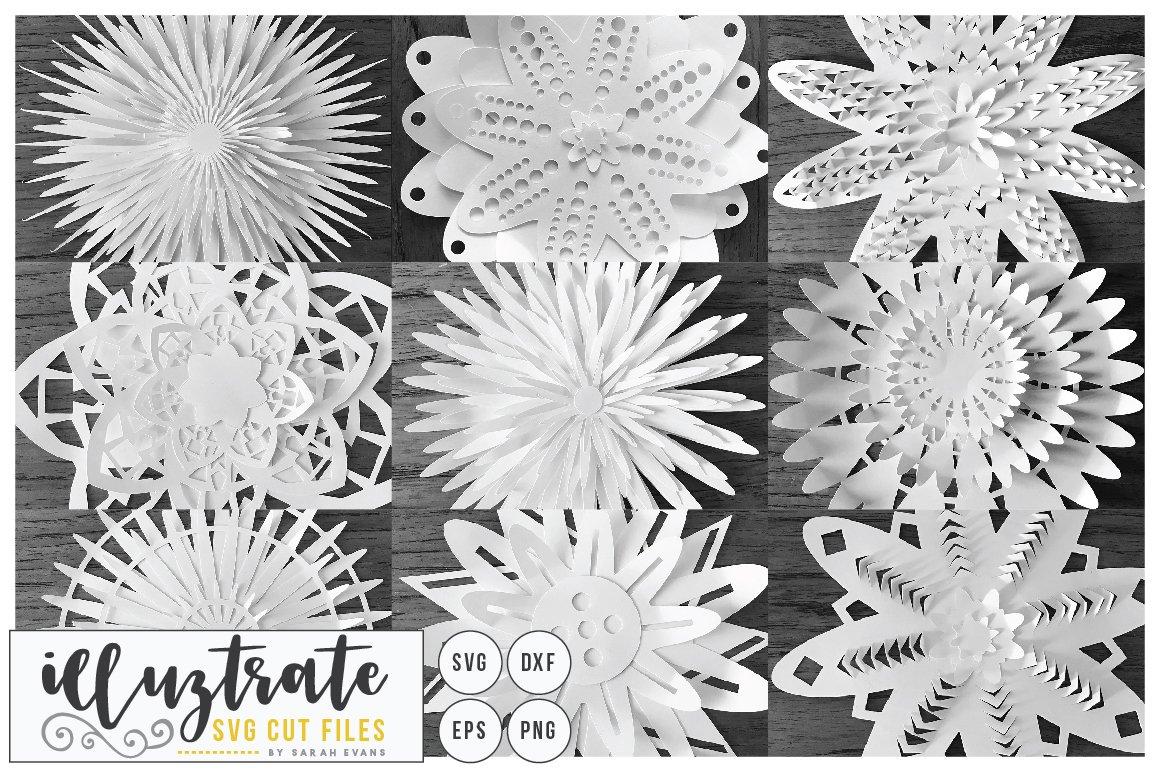 3d Flower Svg Bundle Pre Designed Illustrator Graphics Creative Market