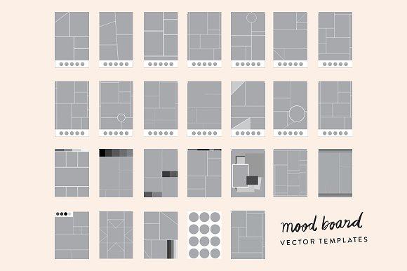 25+ Mood Board Vector Templates ~ Presentation Templates ~ Creative ...