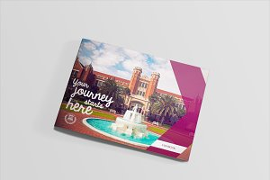 A4 University Viewbook Template