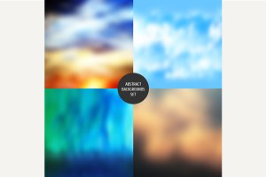 Abstract backgrounds set. Vector.