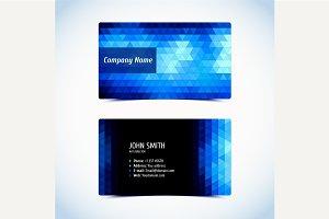 Vector business card set.