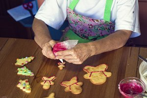 Making Christmas cookies