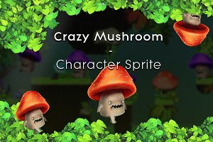 Crazy Mushroom - Character Sprite
