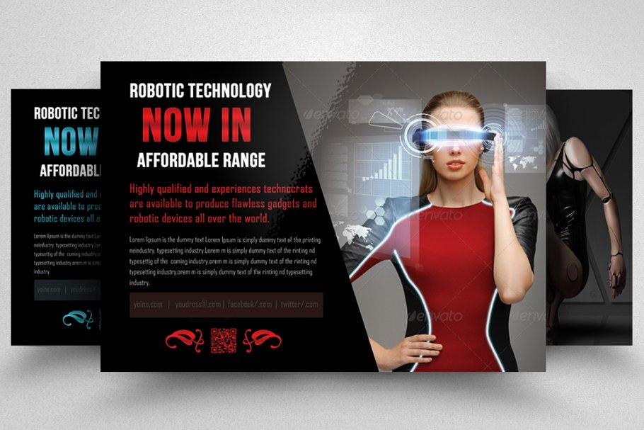 Robot & Gadget Repair Flyer in Flyer Templates - product preview 8