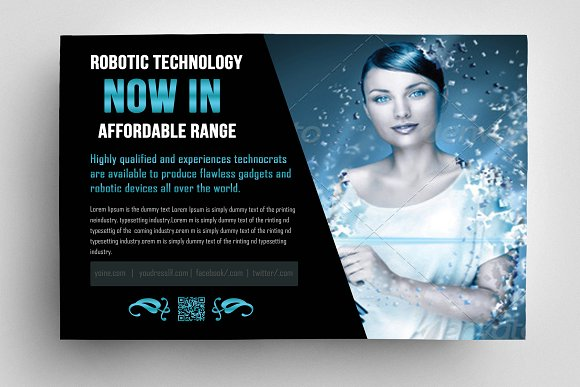 Robot & Gadget Repair Flyer in Flyer Templates - product preview 1