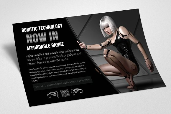 Robot & Gadget Repair Flyer in Flyer Templates - product preview 2
