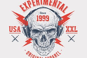 Experimental | Print with Skull