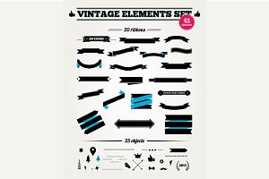 Vintage styled ribbons and design