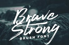 Brave Strong Font by  in Script Fonts