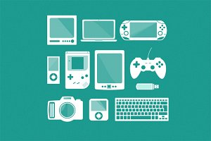 Gadgets/Electronics Vector Set
