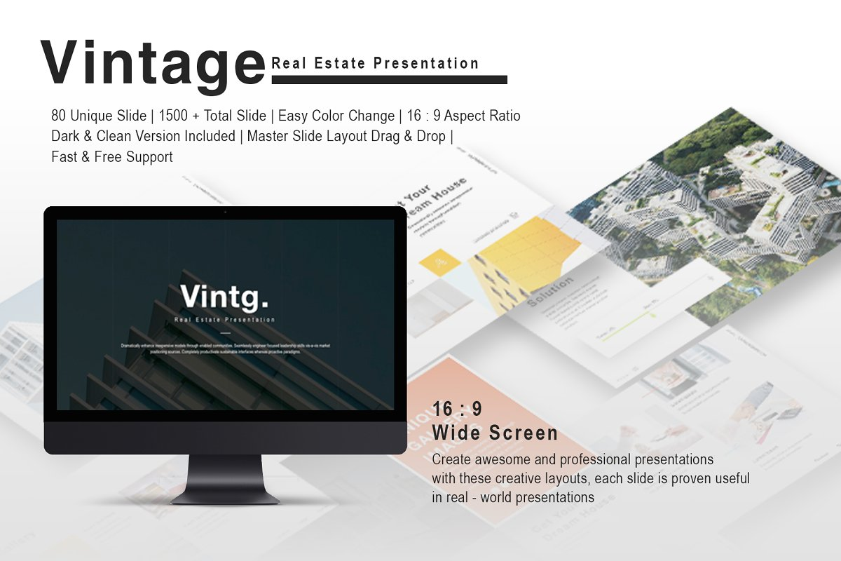 Vintage Property Powerpoint Template