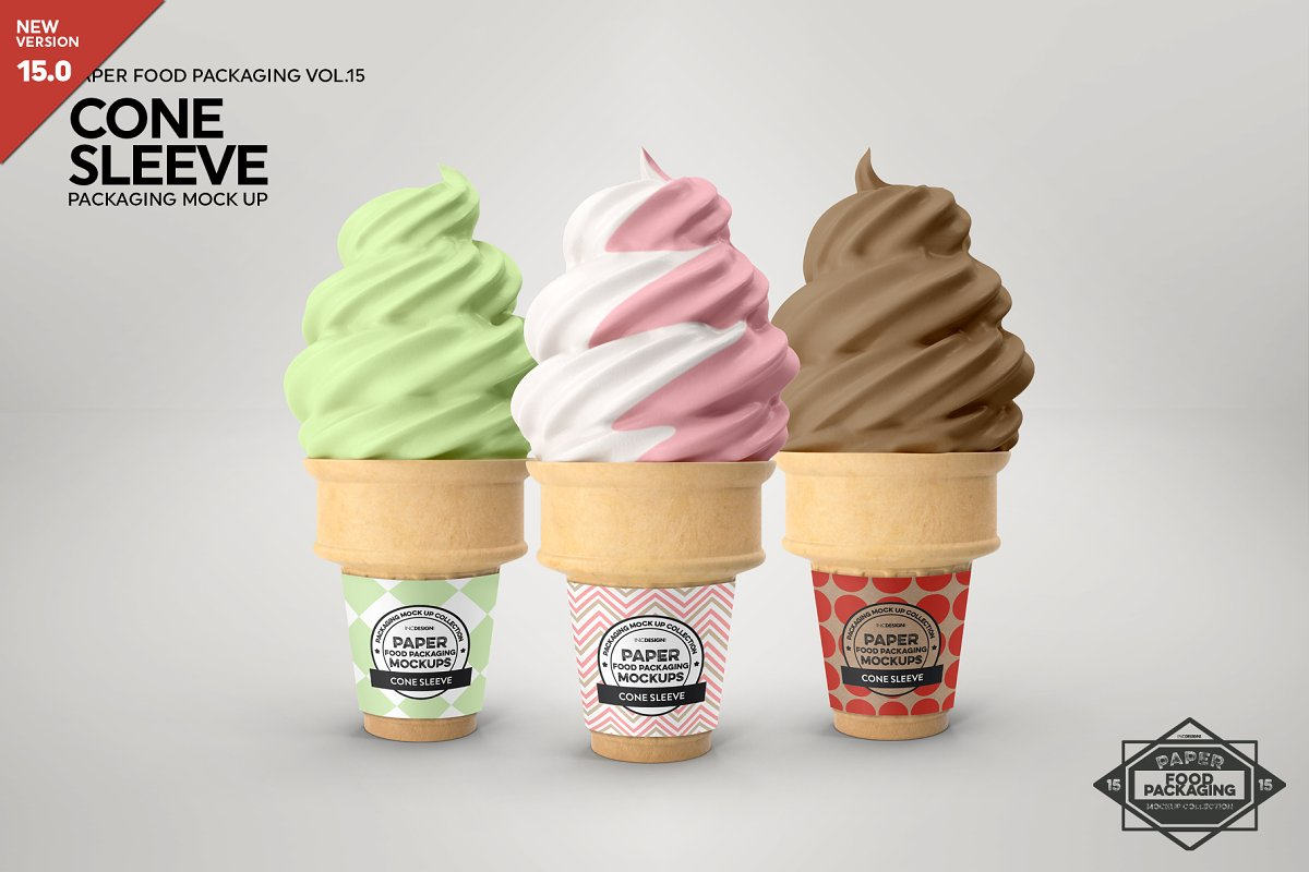 Soft Serve Cone Sleeve Mockup