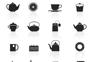 Tea Black Icons