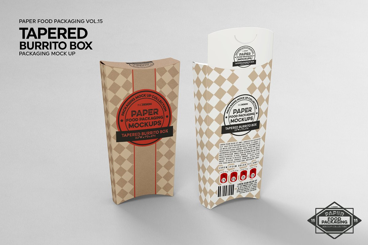 VOL.15 Food Box Packaging Mockups in Mockup Templates - product preview 12