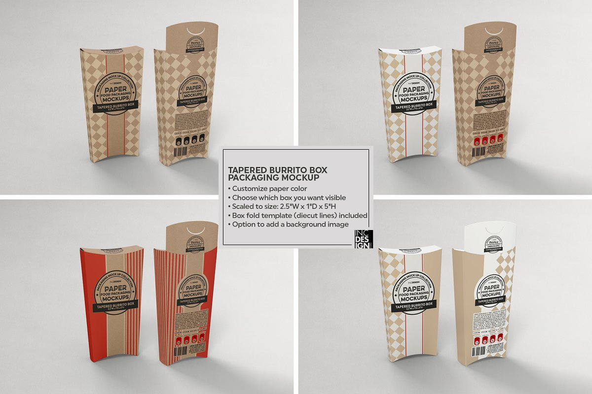 VOL.15 Food Box Packaging Mockups in Mockup Templates - product preview 13