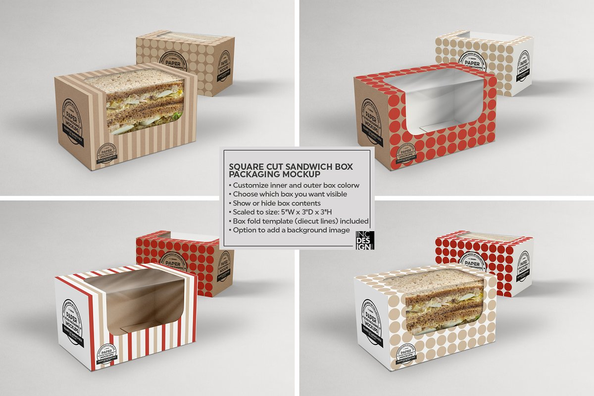 VOL.15 Food Box Packaging Mockups in Mockup Templates - product preview 17