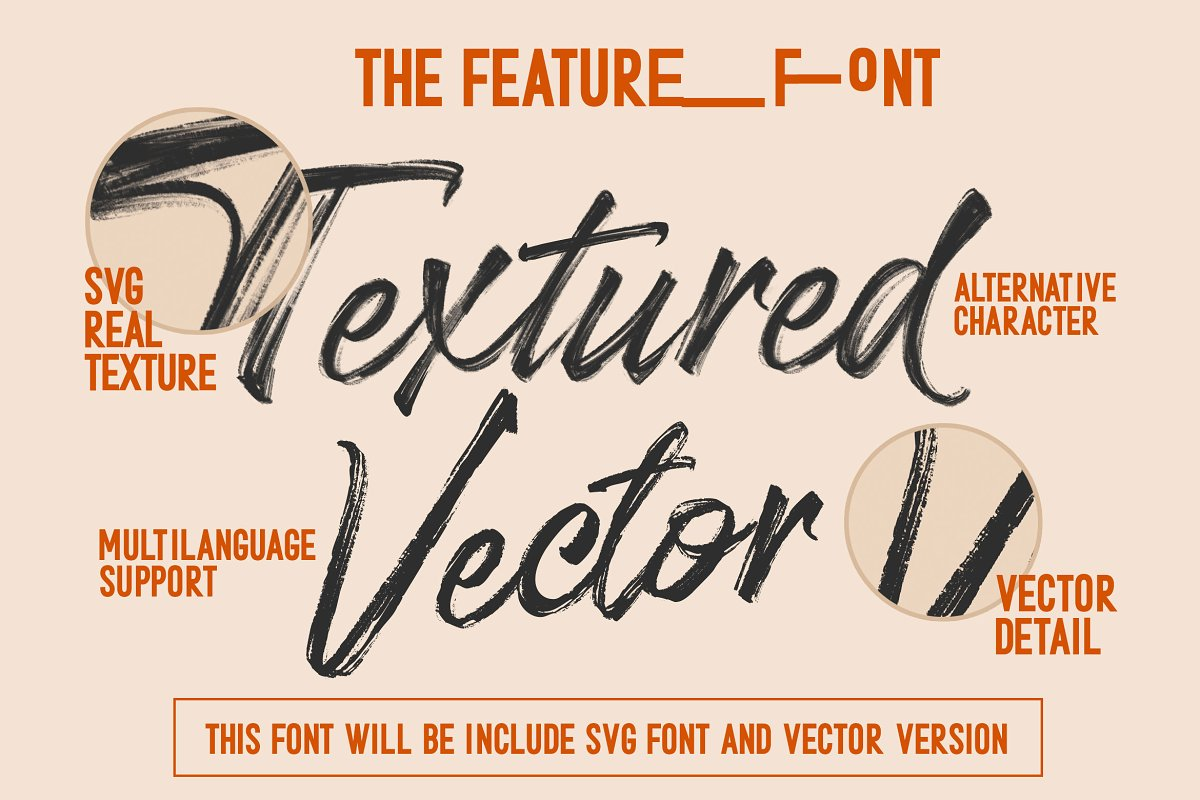 Stereohead Brush Font SVG in Script Fonts - product preview 3