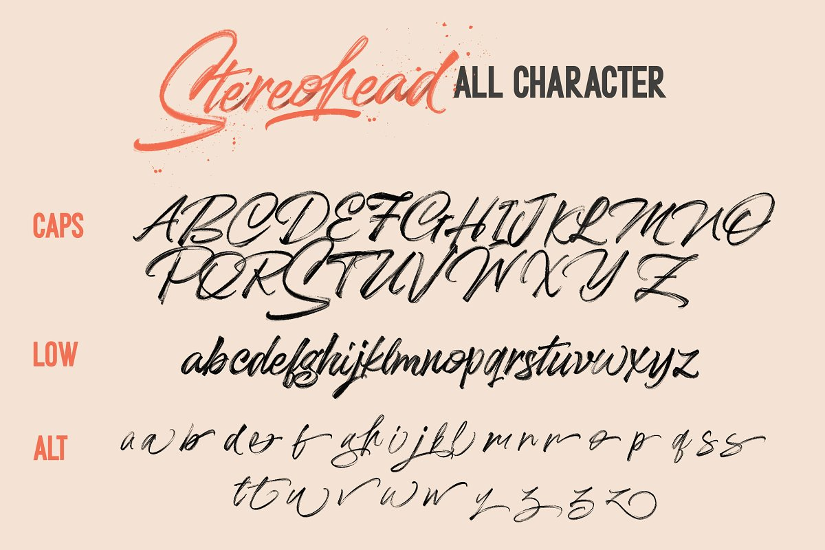 Stereohead Brush Font SVG in Script Fonts - product preview 9