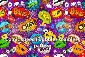 Comic speech bubbles pattern