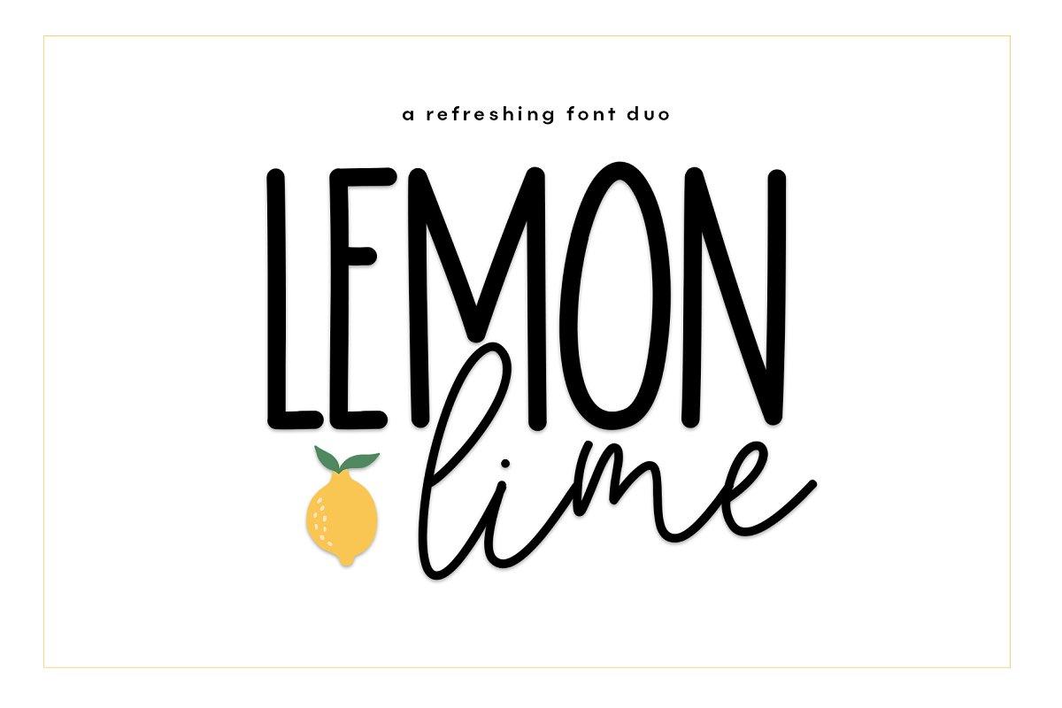Lemon Lime - A Handwritten Font Duo