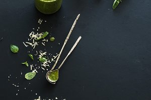 Ingredients for homemade pesto