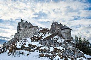 The Ehrenberg castle in Tirol Alps