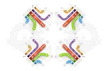 Infographic Arrows Circuit