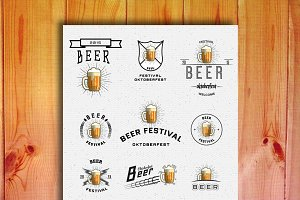 Oktoberfest set badges