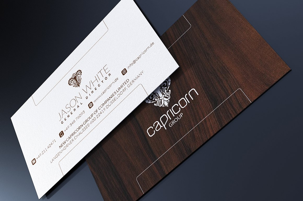 Wood Business Card Business Card Templates Creative Market