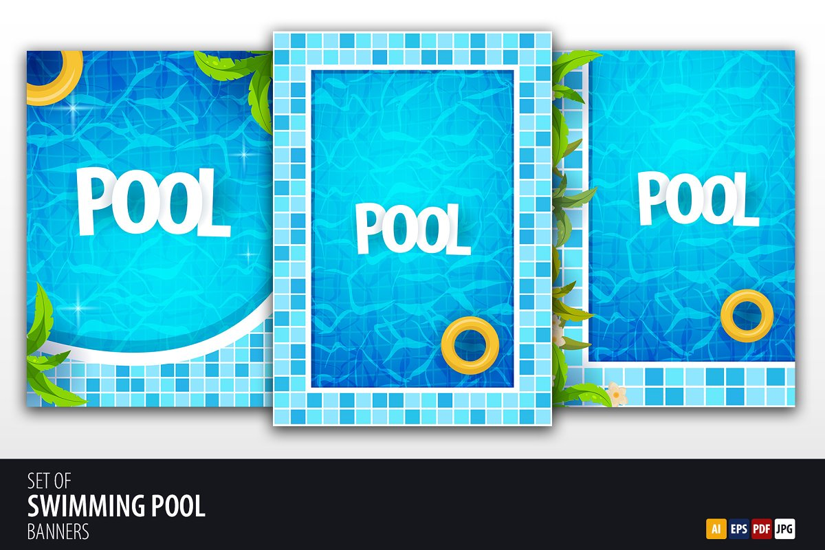 Swimming Pool posters ~ Illustrations ~ Creative Market
