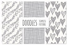 Doodles. Seamless Patterns Set 1